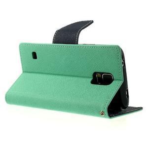 Diary peněženkové pouzdro na Samsung Galaxy S5 - azurové - 3