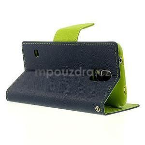 Diary peněženkové pouzdro na Samsung Galaxy S5 - tmavěmodré - 3