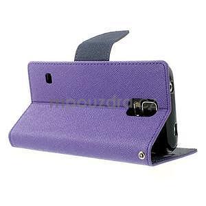 Diary peněženkové pouzdro na Samsung Galaxy S5 - fialové - 3