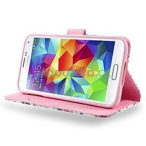 Ochranné puzdro pre mobil Samsung Galaxy S5 - kvetinová koláž - 3