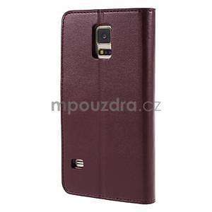 Elegantní peňaženkové puzdro pre Samsung Galaxy S5 - vínové - 3