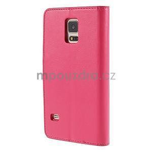 Elegantní peněženkové pouzdro na Samsung Galaxy S5 - rose - 3