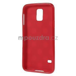 Puntíkovaný gélový kryt pre Samsung Galaxy S5 - červený - 3