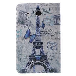 Ochranné koženkové puzdro na Samsung Galaxy Tab E 9.6 - Eiffelova veža - 3