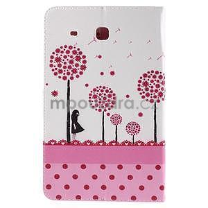 Ochranné koženkové puzdro na Samsung Galaxy Tab E 9.6 - dievča & púpavy - 3