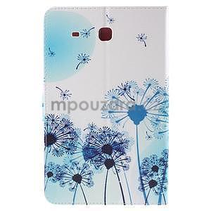 Ochranné koženkové puzdro na Samsung Galaxy Tab E 9.6 - modrá púpava - 3
