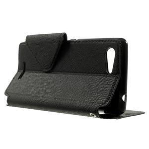 Peňaženkové puzdro s okienkom na Sony Xperia E3 - čierne - 3