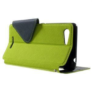 Peňaženkové puzdro s okienkom na Sony Xperia E3 - zelené - 3