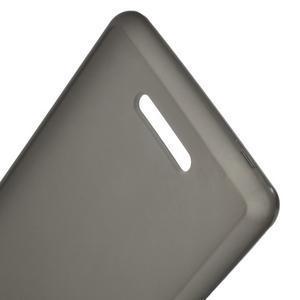 Matný gélový obal pre mobil Sony Xperia E3 - sivý - 3