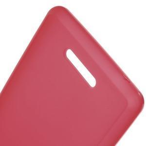 Matný gélový obal pre mobil Sony Xperia E3 - červený - 3