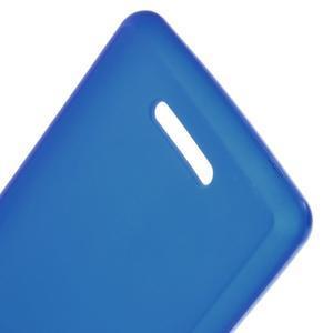 Matný gélový obal pre mobil Sony Xperia E3 - modrý - 3