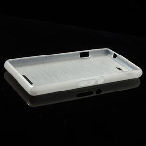 Brushed gélový obal pre mobil Sony Xperia E3 - biely - 3