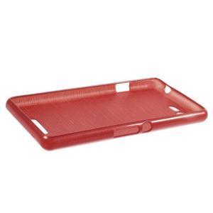 Brushed gélový obal pre mobil Sony Xperia E3 - červený - 3