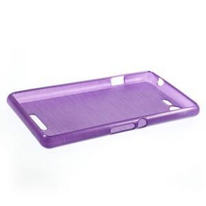 Brushed gélový obal pre mobil Sony Xperia E3 - fialový - 3