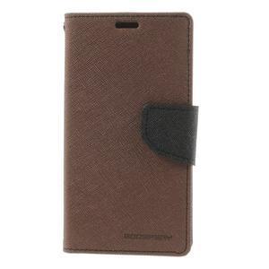Richmercury puzdro pre mobil Sony Xperia E3 - hnedé - 3