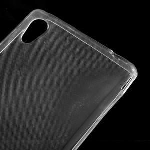 Ultratenký slim gelový obal na mobil Sony Xperia M4 Aqua - transparentní - 3