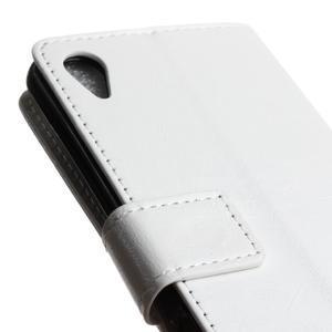 Horse PU kožené puzdro pre Sony Xperia X - biele - 3