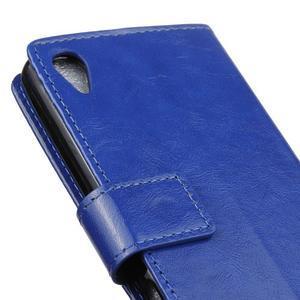 Horse PU kožené puzdro pre Sony Xperia X - modré - 3