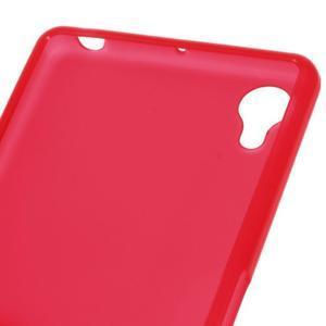 Matný gelový obal na mobil Sony Xperia X - červený - 3