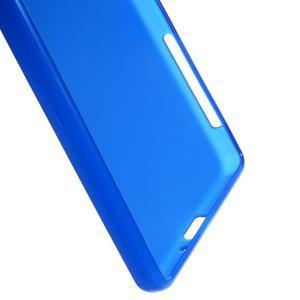 Matný gélový obal pre mobil Sony Xperia X - modrý - 3