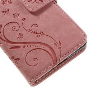 Butterfly PU kožené pouzdro na Sony Xperia X - růžové - 3