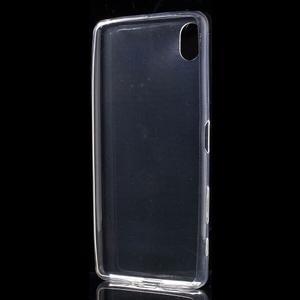 Ultratenký 0.5 mm gélový obal pre Sony Xperia X - transparentné - 3