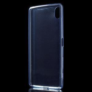Ultratenký 0.5 mm gélový obal pre Sony Xperia X - tmavomodrý - 3