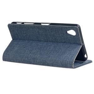 Texture puzdro pre mobil Sony Xperia X - tmavomodré - 3