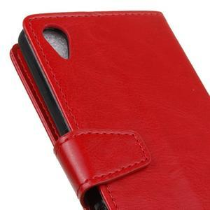 Horse PU kožené pouzdro na Sony Xperia X - červené - 3