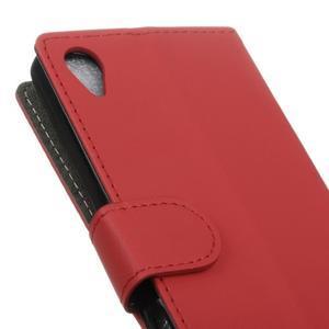 Walle Peňaženkové puzdro pre Sony Xperia X - červené - 3