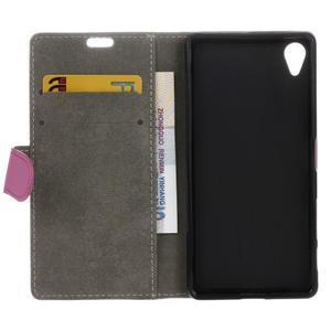 Walle Peňaženkové puzdro pre Sony Xperia X - ružové - 3