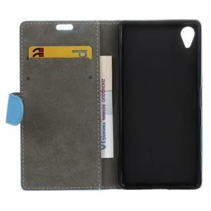 Walle peněženkové pouzdro na Sony Xperia X - světlemodré - 3