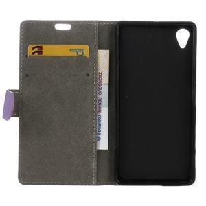 Walle Peňaženkové puzdro pre Sony Xperia X - fialové - 3