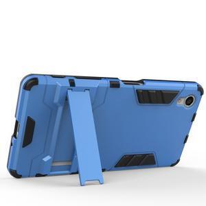 Odolný kryt na mobil Sony Xperia X - šedomodrý - 3