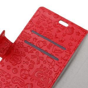Cartoo Peňaženkové puzdro pre Sony Xperia X - červené - 3