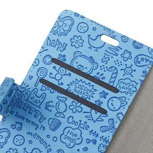 Cartoo Peňaženkové puzdro pre Sony Xperia X - modré - 3