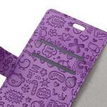 Cartoo peněženkové pouzdro na Sony Xperia X - fialové - 3/7