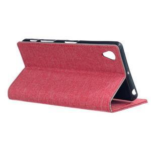 Texture pouzdro na mobil Sony Xperia X - červené - 3