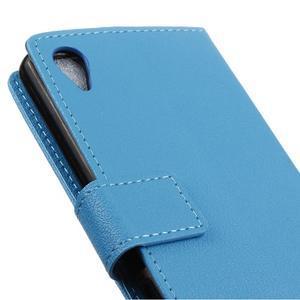 Grain koženkové pouzdro na Sony Xperia X - modré - 3