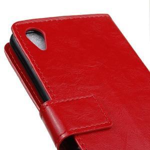 Horse Peňaženkové puzdro pre Sony Xperia X Performance - červené - 3