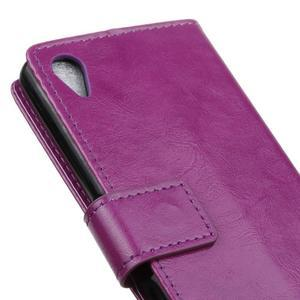 Horse Peňaženkové puzdro pre Sony Xperia X Performance - fialové - 3