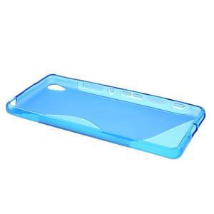 S-line gélový obal pre mobil Sony Xperia XA - modrý - 3