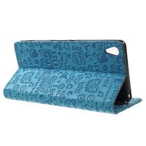 Cartoo peněženkové pouzdro na mobil Sony Xperia XA - modré - 3