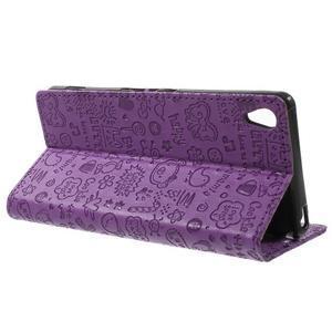 Cartoo Peňaženkové puzdro pre mobil Sony Xperia XA - fialové - 3