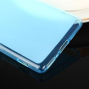 Obojstranné matný gélový obal pre Sony Xperia XA - modrý - 3