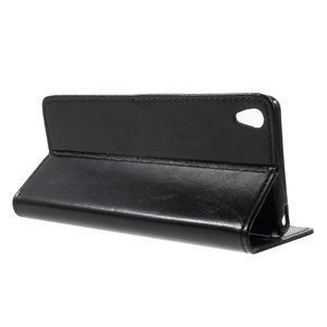 Horse PU kožené puzdro pre mobil Sony Xperia XA - čierne - 3