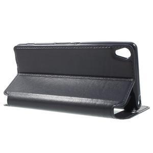 Royal PU kožené puzdro s okienkom na Sony Xperia XA - tmavomodré - 3