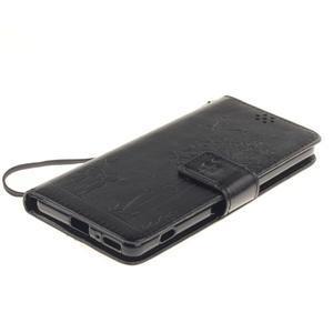 Dandely PU kožené pouzdro na mobil Sony Xperia XA - černé - 3