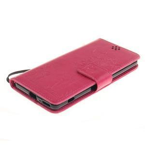 Dandely PU kožené puzdro pre mobil Sony Xperia XA - rose - 3