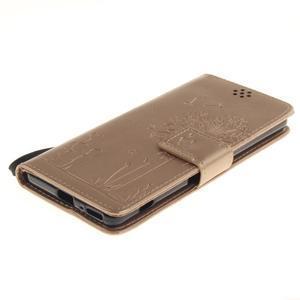 Dandely PU kožené pouzdro na mobil Sony Xperia XA - zlaté - 3